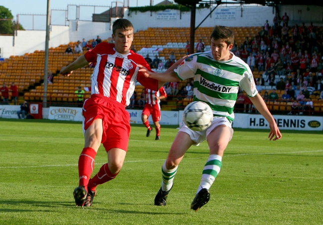 Eric McGill with Seamus Coleman 7/6/2008