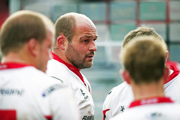 Rory Best dejected after the Champions Cup loss to Toulon.