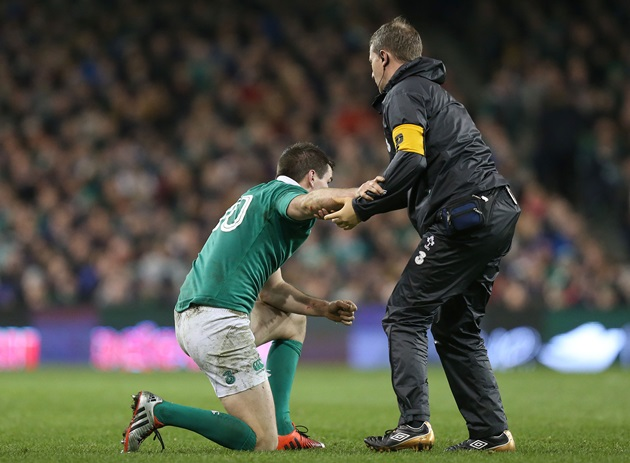 Jonathan Sexton down injured 22/11/2014