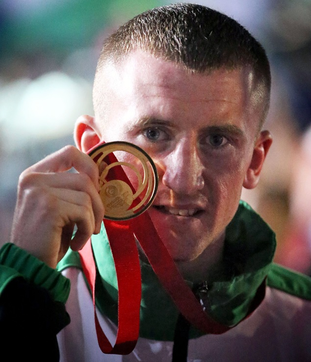 Paddy Barnes with his gold medal 2/8/2014