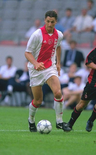26 Jul 2001:  Zlatan Ibrahimovic of Ajax runs with the ball during the pre-season friendly tournament match against AC Milan played at the Amsterdam ArenA, in Amsterdam, Holland. AC Milan won the match 1-0.  Mandatory Credit: Phil Cole /Allsport