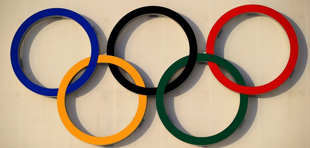 SOCHI, RUSSIA - FEBRUARY 21:  The Olympic Rings displayed during the Women's 4 x 6 km Relay during day 14 of the Sochi 2014 Winter Olympics at Laura Cross-country Ski & Biathlon Center on February 21, 2014 in Sochi, Russia.  (Photo by Richard Heathcote/Getty Images)