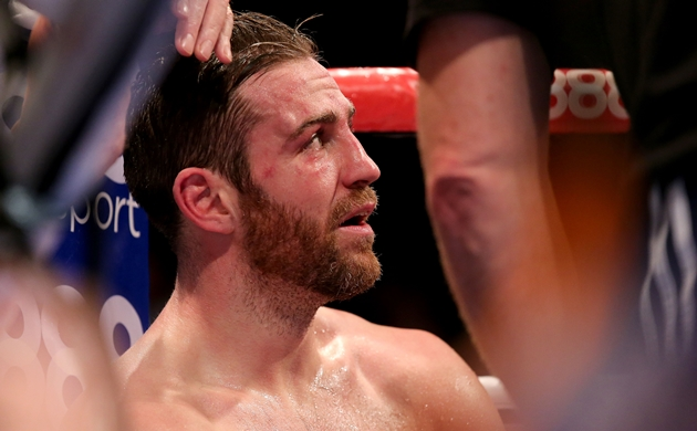 Matthew Macklin dejected in his corner after being knocked out 15/11/2014