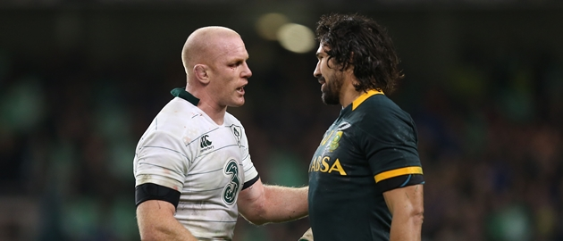 Paul O'Connell and Victor Matfield after the match 8/11/2014