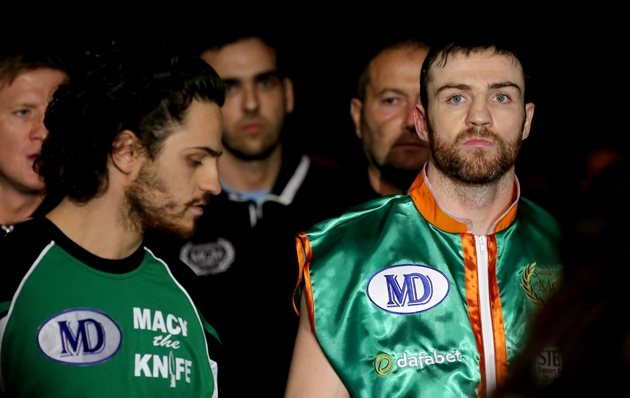 Matthew Macklin makes his way to the ring ahead of the fight 15/11/2014
