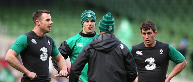 Tommy Bowe, Jonathan Sexton and Ian Keatley 30/1/2015