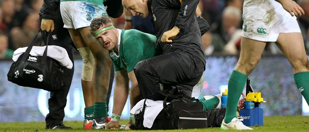 JAMIE HEASLIP: A fractured vertebrae has ruled him out for four weeks.