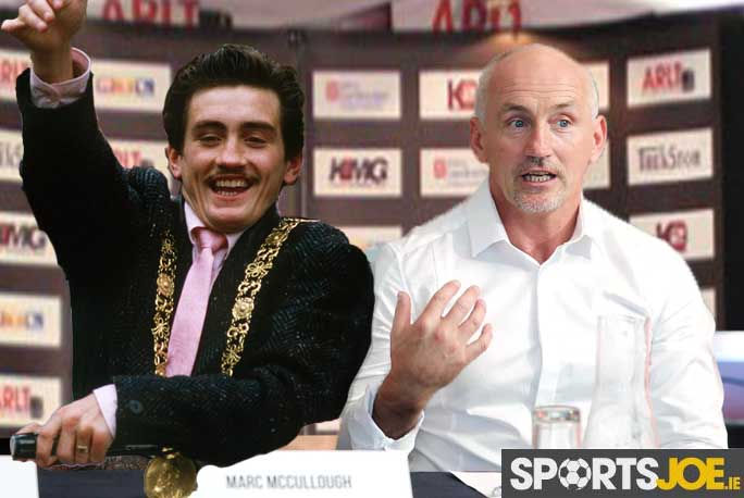 Marc McCullough and Barry McGuigan 18/6/2014