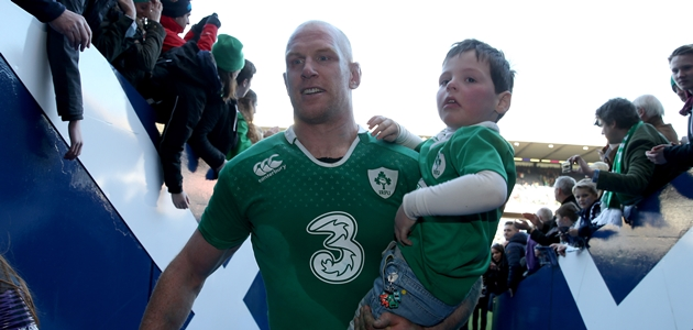 Paul O'Connell with his son Paddy 21/3/2015