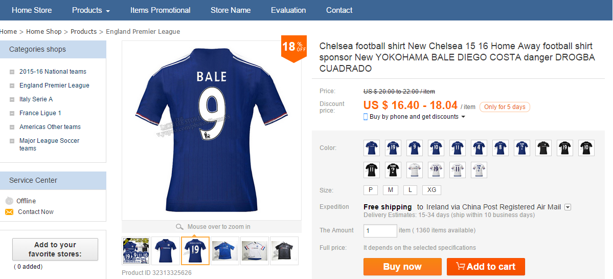 093b4367254bee Pics  Online shop sells new Chelsea jersey with Gareth Bale s name ...
