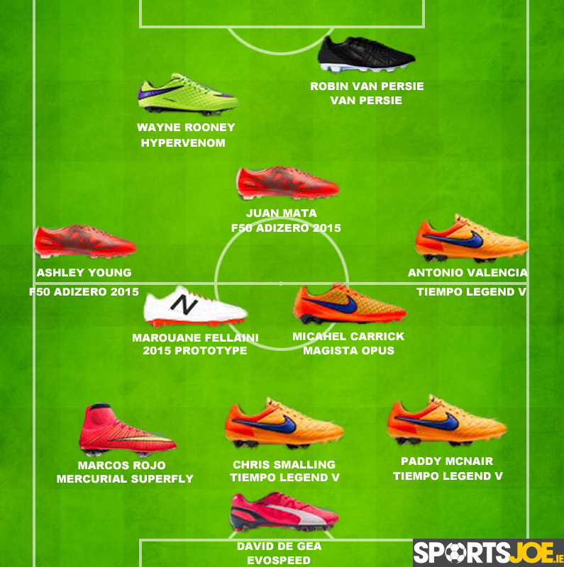 Graphic The Boots Worn By The Starting Lineups Of