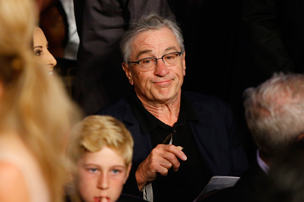 LAS VEGAS, NV - MAY 02:  Robert De Niro attends the welterweight unification championship bout on May 2, 2015 at MGM Grand Garden Arena in Las Vegas, Nevada.  (Photo by Al Bello/Getty Images)