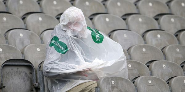 Electric Ireland GAA Hurling All Ireland Minor Championship Semi-Final, Croke Park, Dublin 17/8/2014 Limerick vs Galway A supporter covers up during the game Mandatory Credit ©INPHO/Cathal Noonan
