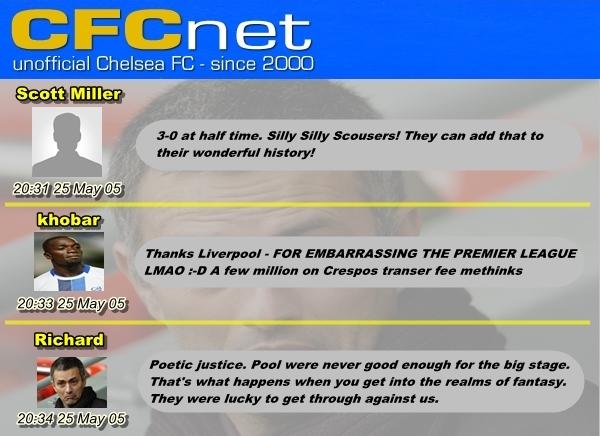Chelsea forum UPDATE 1