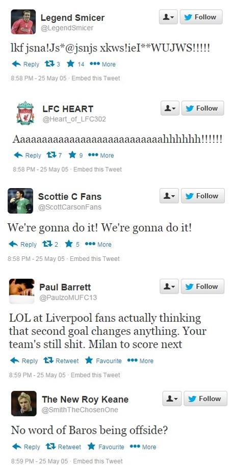 Smicer goal Tweets