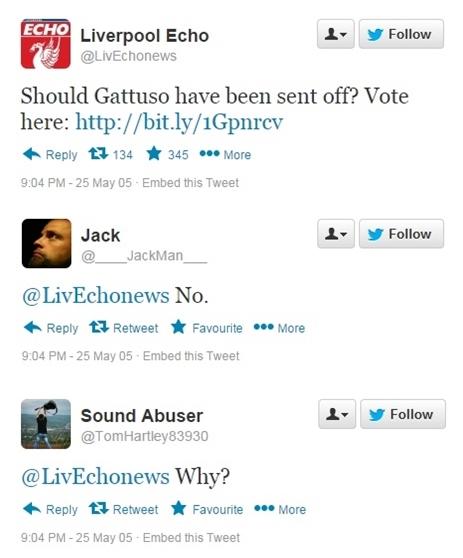 Gattuso tweets
