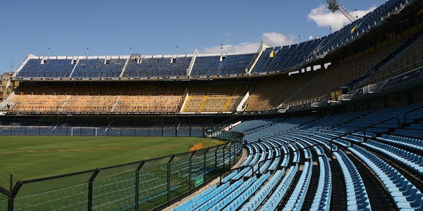 BUENOS AIRES, ARGENTINA - FEBRUARY 11:  A general view of La Bombonera, the home of Boca Juniors football club, in La Boca district of Buenos Aires on February 11, 2008 in Buenos Aires, Argentina.  (Photo by Julian Finney/Getty Images)