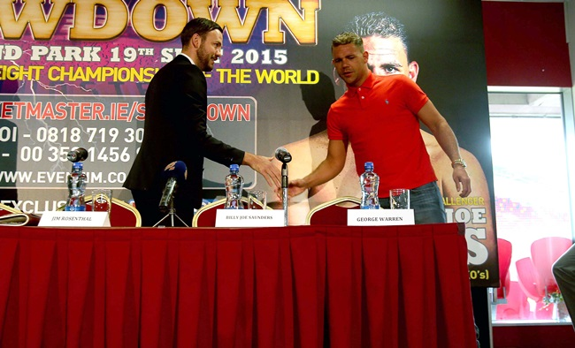 Andy Lee and Billy Joe Saunders 14/7/2015