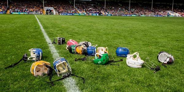 Munster GAA Hurling Senior Championship Quarter-Final, Semple Stadium, Co. Tipperary 24/5/2015 Clare vs Limerick General view of Hurling helmets Mandatory Credit ©INPHO/James Crombie