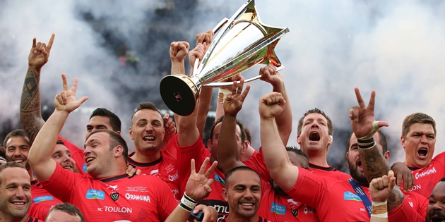 Toulon lift the Champions Cup Trophy 2/5/2015