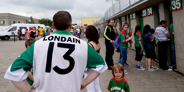 A London fan before the game 21/7/2013