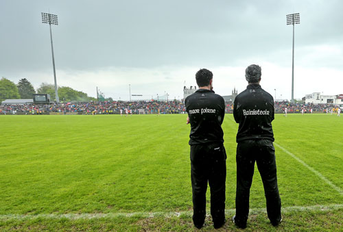 Ulster Minor Football Championship Quarter-Final 26/5/2013 Donegal Assistant manager Rory Gallagher and manager Jim McGuinness Mandatory Credit ©INPHO/James Crombie
