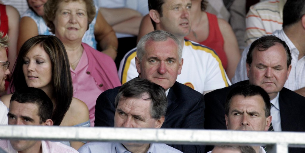 Leinster Football Championship 4/6/2006 Longford vs Dublin An Taoiseach Bertie Ahern looks on from the stands Mandatory Credit ©INPHO/Donall Farmer