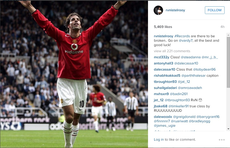 PIC: Ruud van Nistelrooy issues classy good luck message to