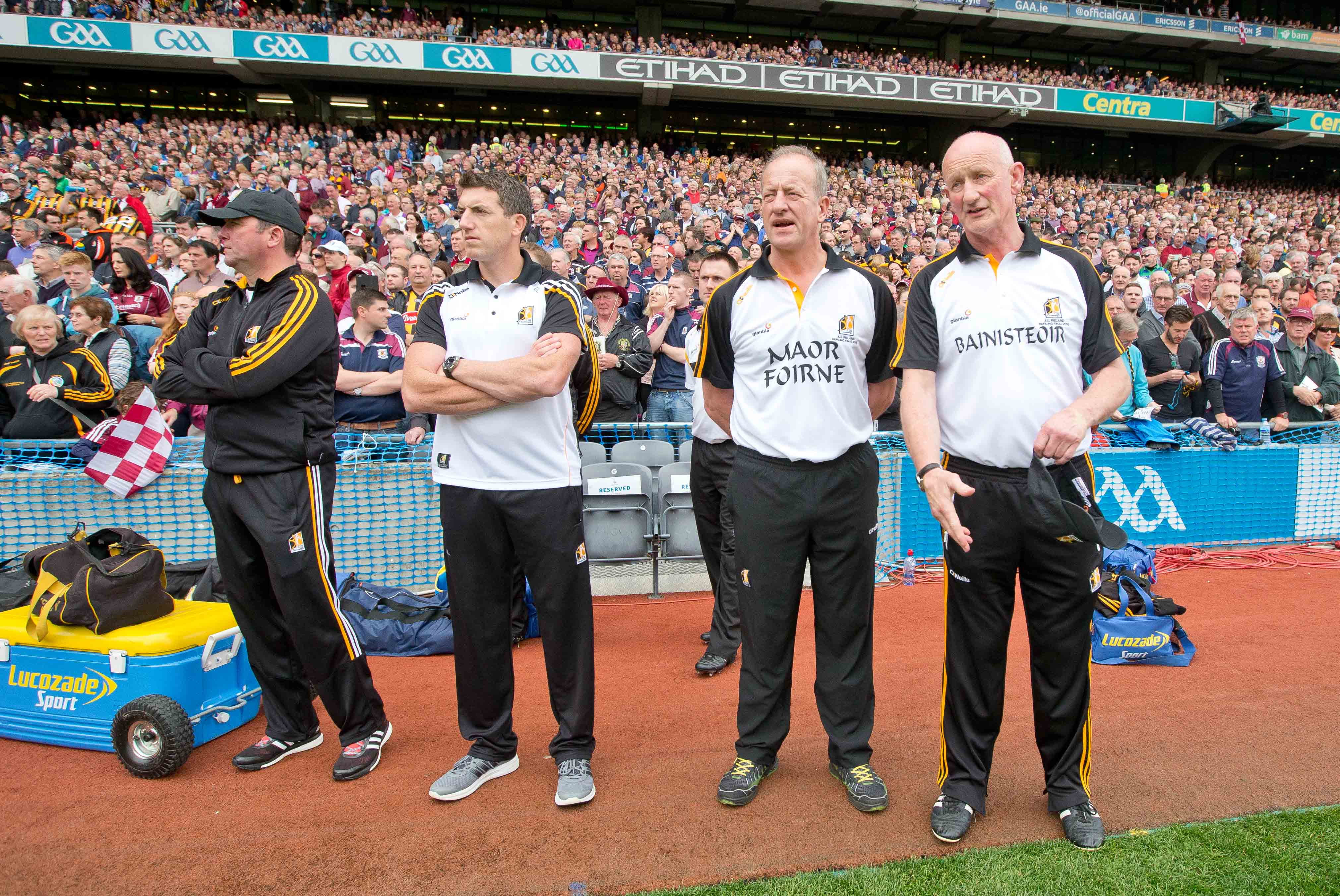 Kilkenny manager Brian Cody with selectors James McGarry, Derek Lyng and Michael Dempsey 6/9/2015