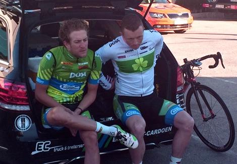 Irish road race champion Damian Shaw gets ready for a training ride