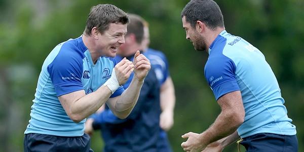 Rob Kearney and Brian O'Driscoll 28/4/2014