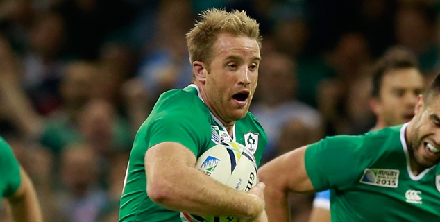 CARDIFF, WALES - OCTOBER 18: Luke Fitzgerald of Ireland breaks through to score his team's first try during the 2015 Rugby World Cup Quarter Final match between Ireland and Argentina at the Millennium Stadium on October 18, 2015 in Cardiff, United Kingdom. (Photo by Phil Walter/Getty Images)