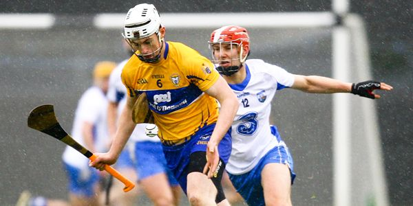 Munster Senior Hurling League Round 4, Carriganore, Waterford 17/1/2016 Waterford vs Clare Clare's Conor Cleary in action against Seamus Keating of Waterford Mandatory Credit ©INPHO/Ken Sutton