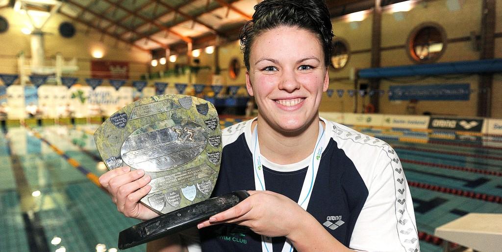 Irish Short Course Swimming Championships 1/12/2013  Women's 400m Individual Medley Gold medal winner Grainne Murphy Mandatory Credit ©INPHO/Presseye/Declan Roughan