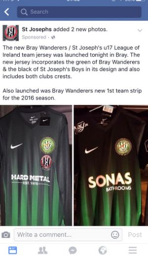 6c736d07ea962 PIC: The new Bray Wanderers home kit is a controversial break with ...