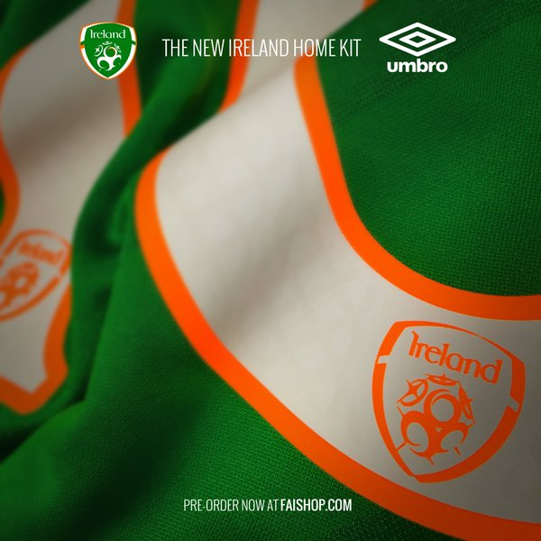 6caf8422c04 Umbro give us the first sneak peeks of Ireland s Euro 2016 home kit ...