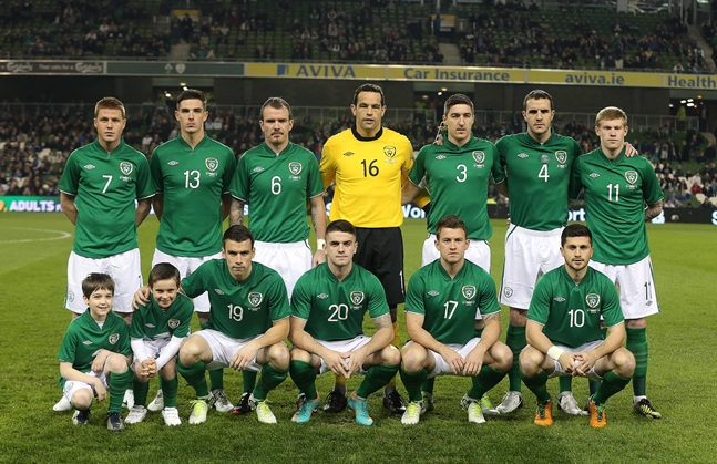 The Republic of Ireland team 14/11/2012