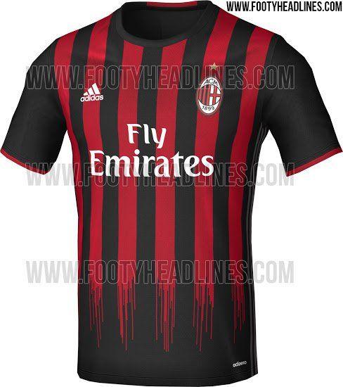 Pic Ac Milan S Leaked 2016 17 Kit Is A Modern Masterpiece Joe Co Uk