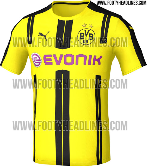 best service 5b917 fc0cc PICS: Borussia Dortmund's home jersey for next season is a ...
