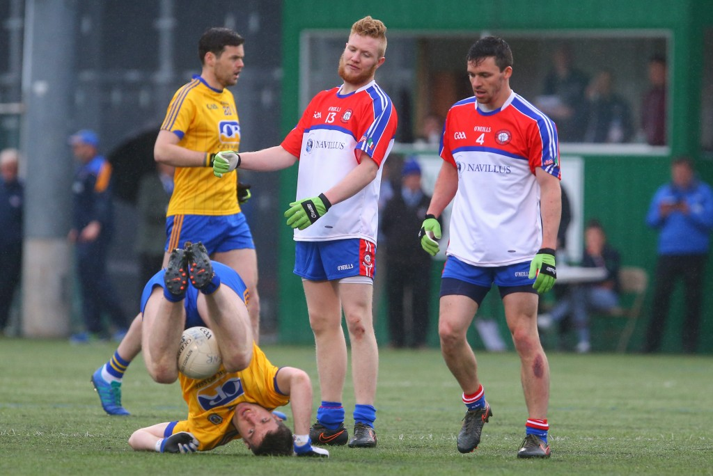 Connacht GAA Senior Football Championship Round 1, Gaelic Park, New York 1/5/2016 New York vs Roscommon New Yorks's Paddy Boyle reacts to a foul called against him Mandatory Credit ©INPHO/Ed Mulholland