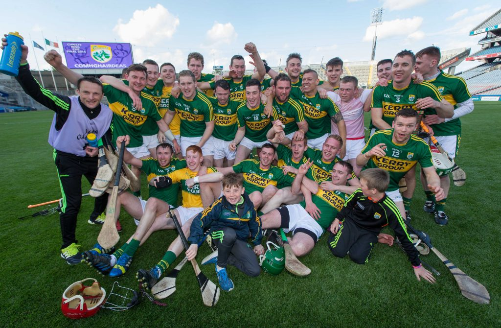 Christy Ring Cup Final, Croke Park, Dublin 6/6/2015 Kerry vs Derry Kerry players celebrate after the game Mandatory Credit ©INPHO/Ryan Byrne