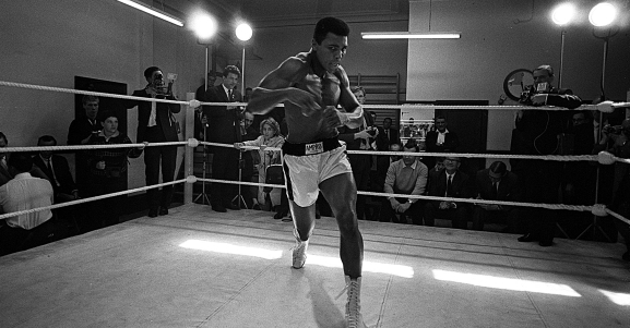 Heavyweight Boxing 1966 Muhammad Ali in training for his fight against Henry Cooper
