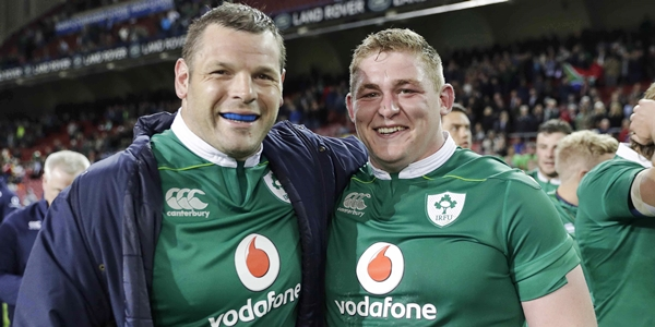 Mike Ross and Tadgh Furlong celebrate after the match 11/6/2016