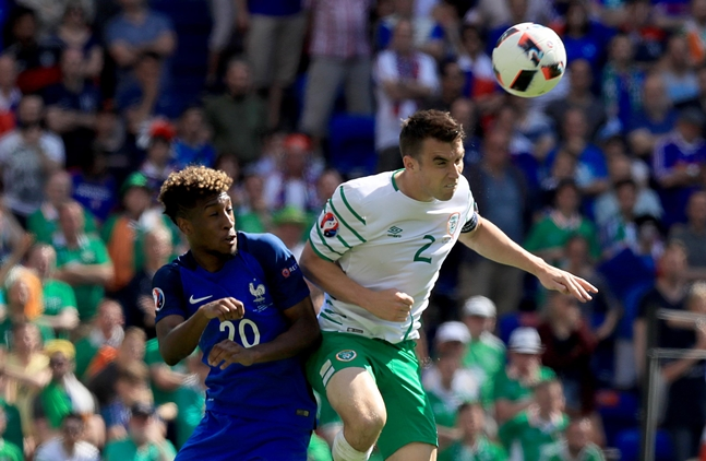 Seamus Coleman with Kingsley Coman 26/6/2016