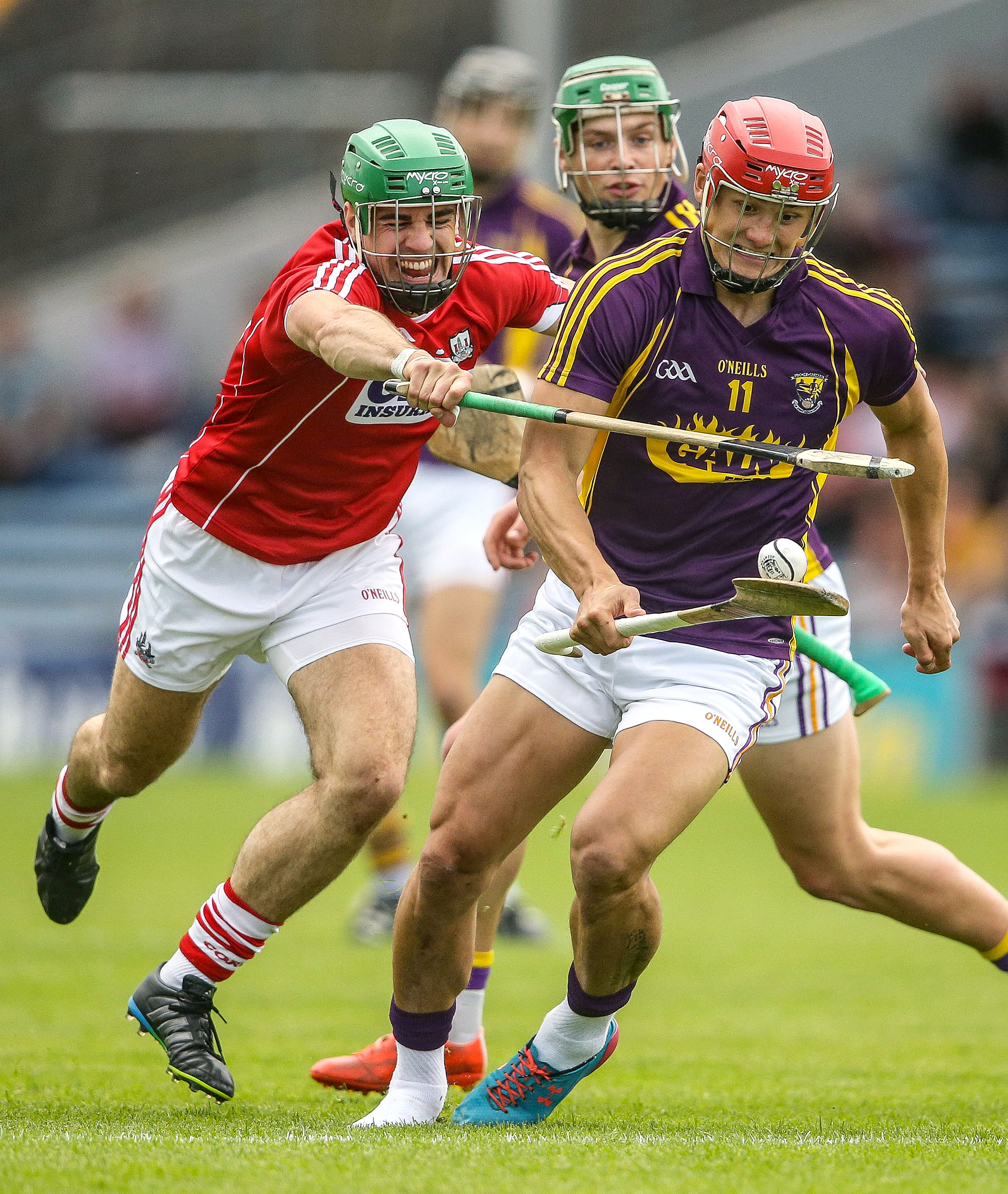 All-Ireland Senior Hurling Championship Qualifiers Round 2, Semple Stadium, Thurles, Tipperary 9/7/2016 Cork vs Wexford Cork's William Egan tackles Lee Chin of Wexford Mandatory Credit ©INPHO/Cathal Noonan