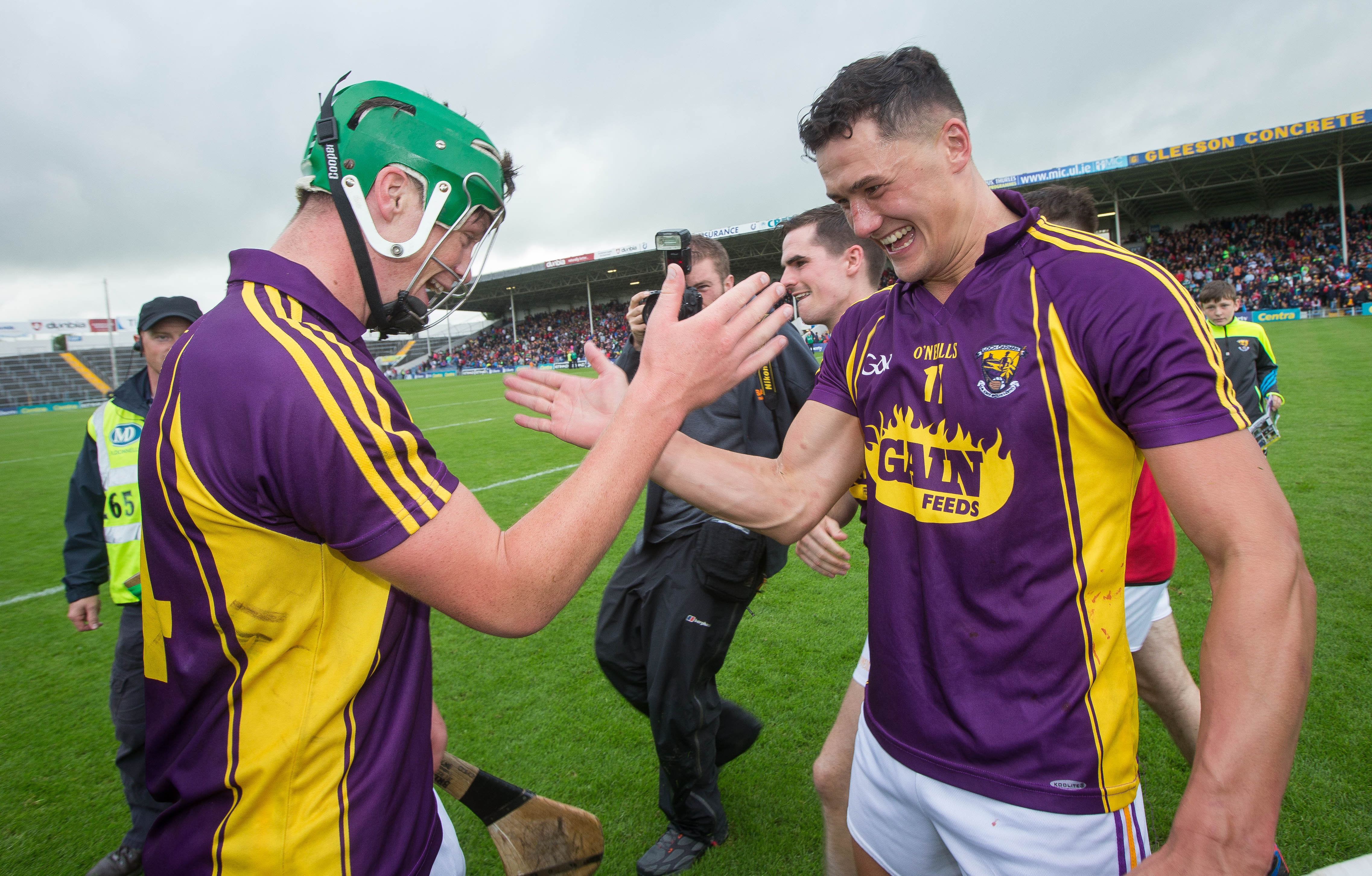 All-Ireland Senior Hurling Championship Qualifiers Round 2, Semple Stadium, Thurles, Tipperary 9/7/2016 Cork vs Wexford Wexford's Conor McDonald and Lee Chin celebrate after the game Mandatory Credit ©INPHO/Ryan Byrne