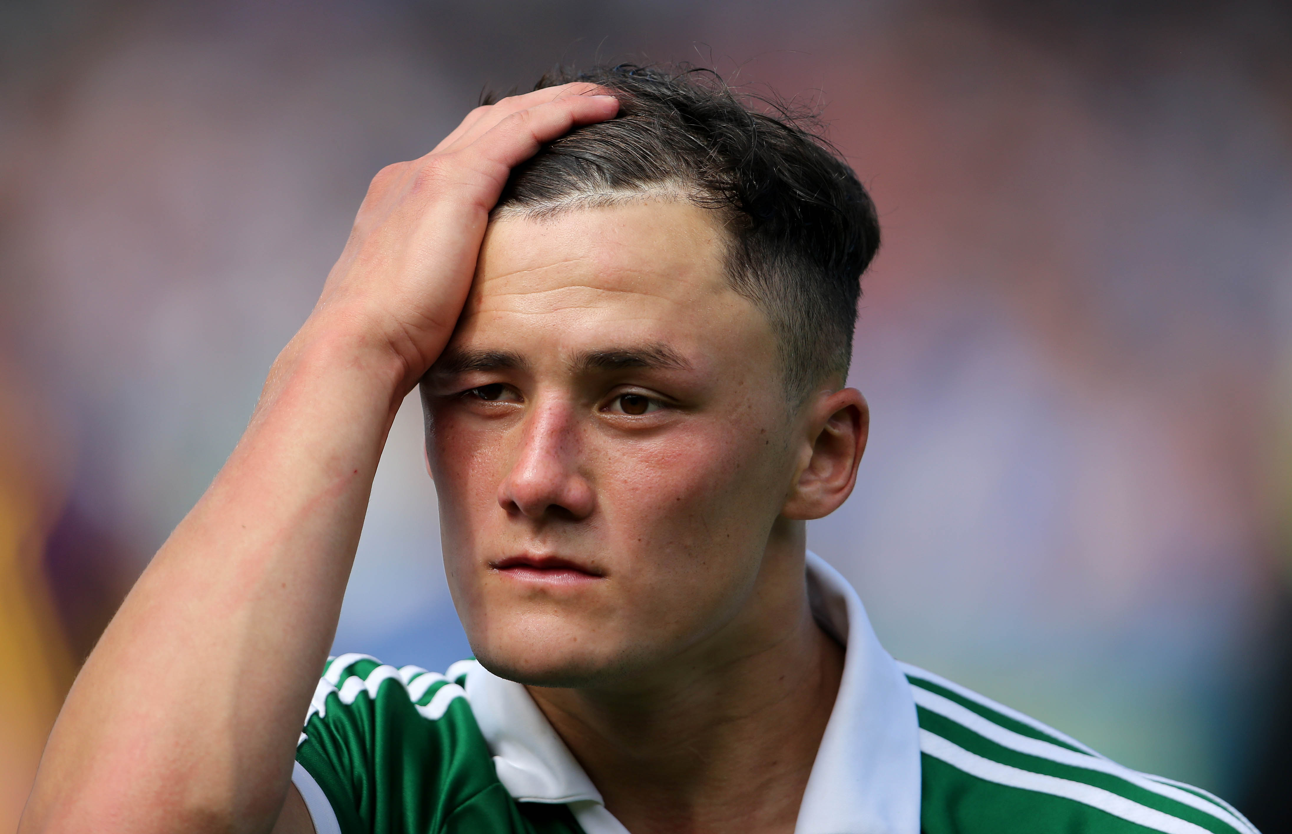 GAA Hurling All Ireland Senior Championship Quarter-Final 27/7/2014 Limerick vs Wexford A dejected Lee Chin of Wexford after the game Mandatory Credit ©INPHO/Cathal Noonan
