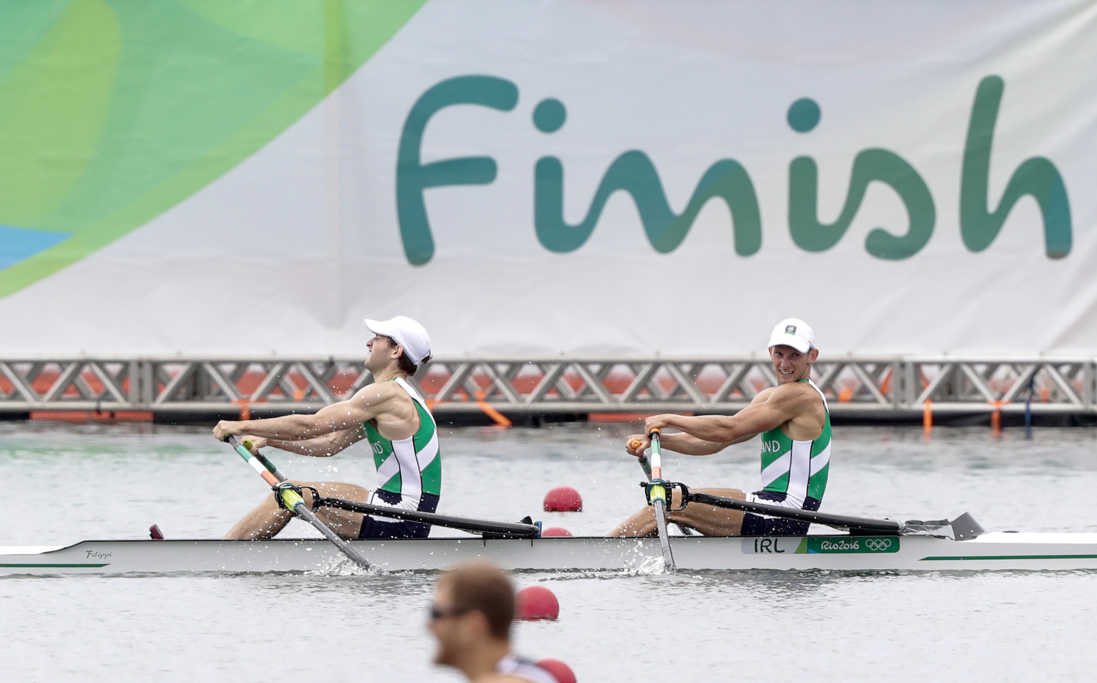 Rio 2016 Olympic Games Day 7, Rio de Janeiro, Brazil 12/8/2016 Rowing - Men's Lightweight Double Sculls Final Ireland's Gary and Paul O'Donovan cross the line to win silver Mandatory Credit ©INPHO/Morgan Treacy