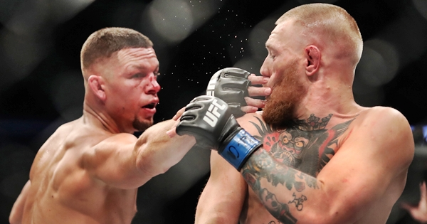 Conor McGregor and Nate Diaz 20/8/2016