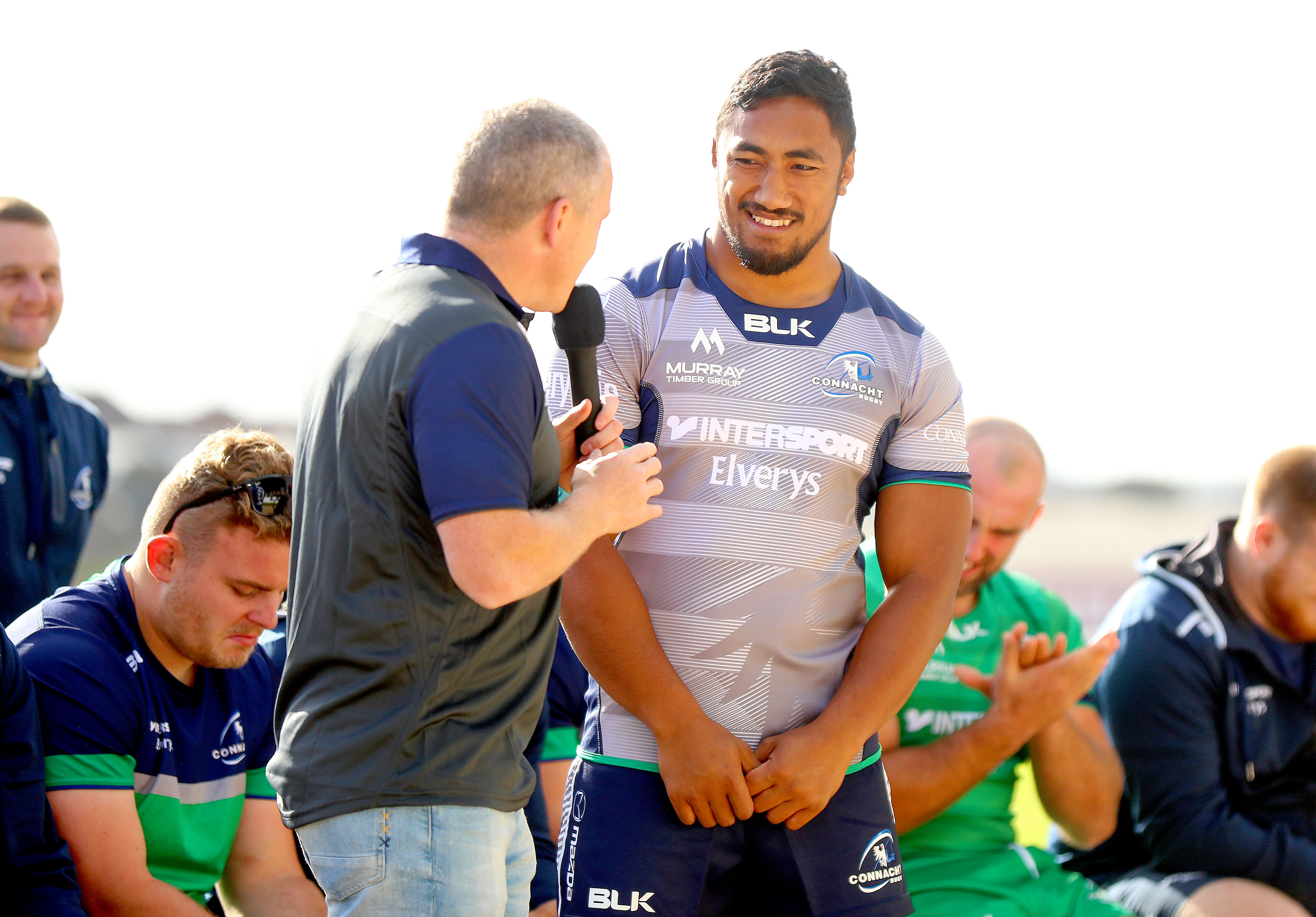 REPRO FREE***PRESS RELEASE NO REPRODUCTION FEE*** Connacht Rugby Season Ticket Holder Event, The Sportsground, Galway 26/8/2016 Bundee Aki Mandatory Credit ©INPHO/James Crombie